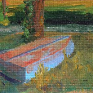 Bart Levy Art - blue boat