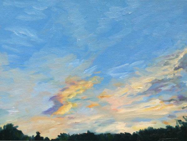 Bart Levy Art - sunset original oil painting