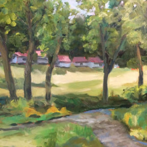 Bart Levy Art - Nimrod oil painting Boys camp