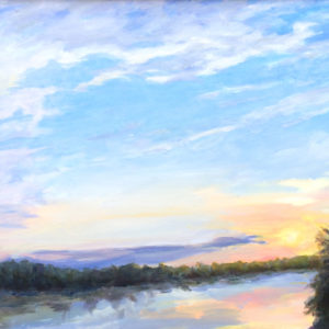 Oil Painting of James River Bart Levy Art