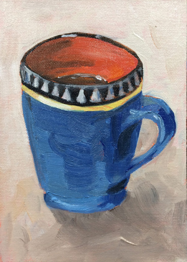 cuppa joe oil painting a day