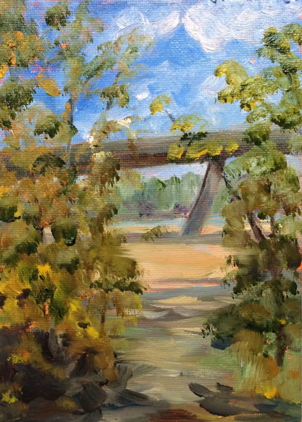mayo bridge original oil painting of the day bart levy art