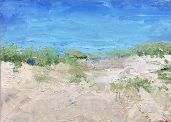the ocean's right over there original oil painting painting a day bart levy art