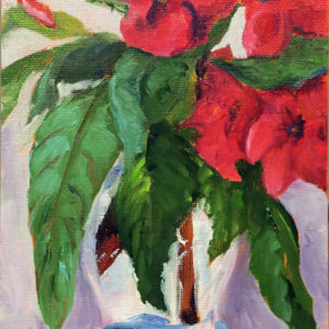 impatiens original oil painting of the day bart levy art