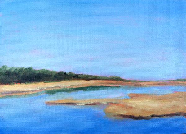 Manteo Marsh 2 OBX oil painting bart levy art