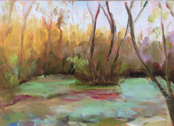 original oil painting a day wetlands bart levy art