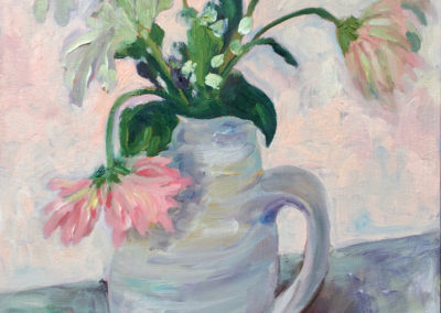 Gerberas in an Earthenware Jug