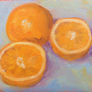 orange arrangement original oil painting a day bart levy art