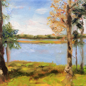 trent river park new bern nc painting a day bart levy art