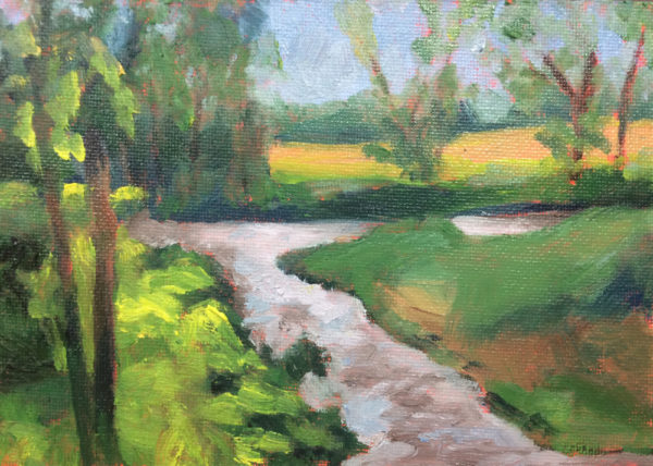 Bath County Stream original oil painting of the day Bart Levy Art