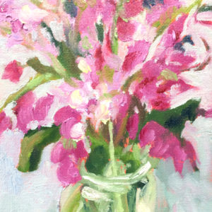 Valentine original oil painting of the day bart levy art
