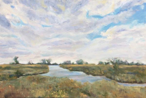 Wanchese Marsh original oil painting bart levy art