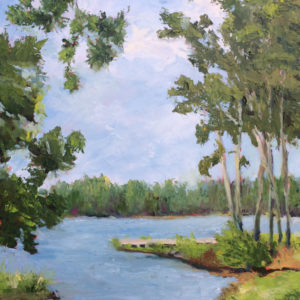 The creek original oil painting bart levy art