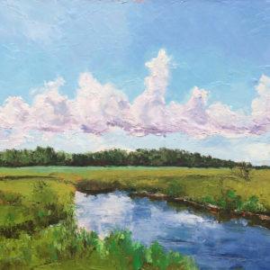 winnabow marsh wilmington NC Bart Levy Art original oil painting