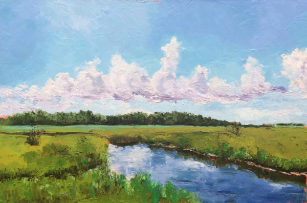 winnabow marsh wilmington NC Bart Levy Art original oil painting