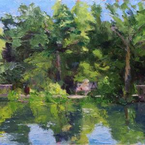 In the Garden original oil painting Bart Levy Art