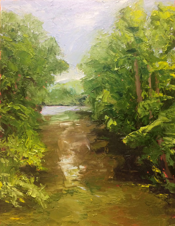 Cowpasture River, Virginia original oil painting Bart Levy Art