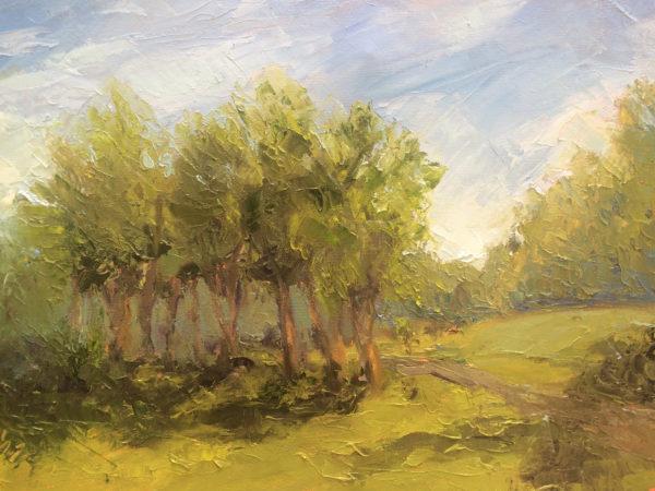 Grove of Trees, Nimrod Hall, Bath County VA original oil painting bart levy art