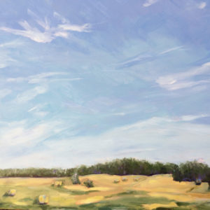 Rolling Hills and wispy clouds. original oil painting by bart levy art