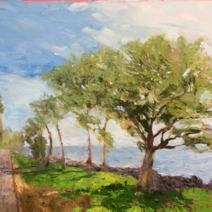 coastal road originial oil painting bart levy art