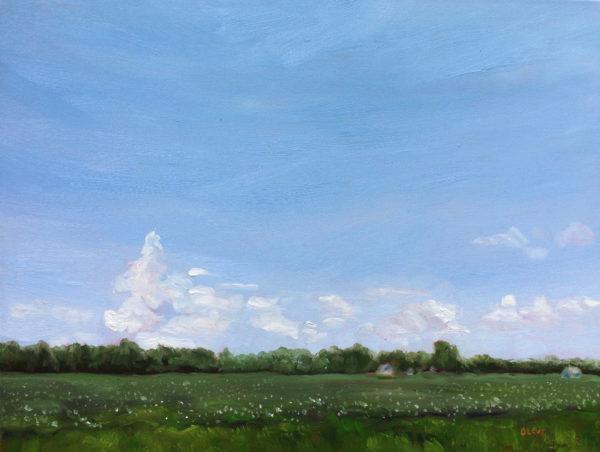 soybean fields original oil painting bart levy art