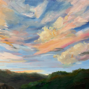 Sundown oil painting by bart levy