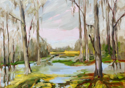Winter Flood at Brookgreen, original oil painting by Bart Levy