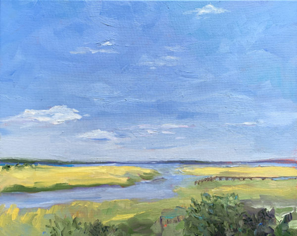 Golden Marsh, original oil painting by Bart Levy