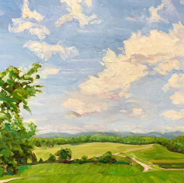Looking West, original oil painting by Bart Levy