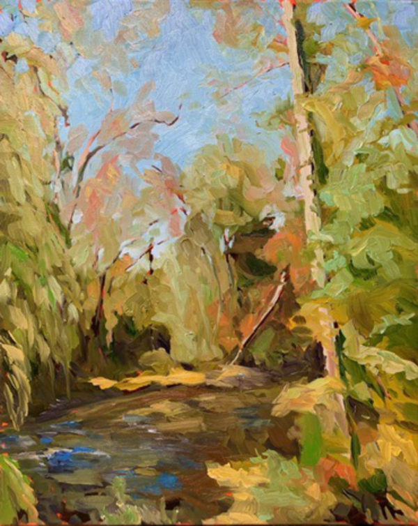Williamsburg Creek. original oil painting by Bart Levy