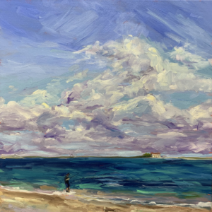try and Catch the wind, original oil painting by bart Levy