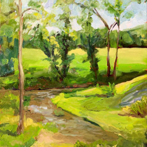 June, original oil painting by Bart Levy