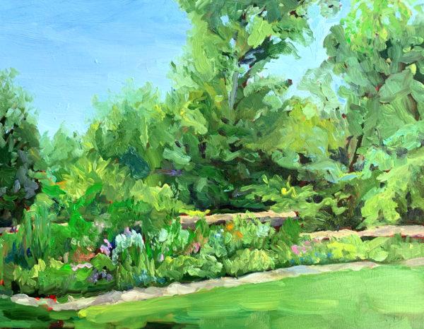 melchers garden, original oil painting, bart levy