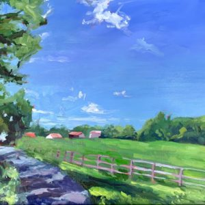 goochland road, original oil painting by Bart Levy