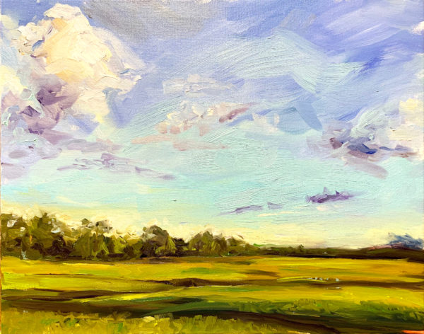 Marsh, Late Afternoon, original oil painting by Bart Levy