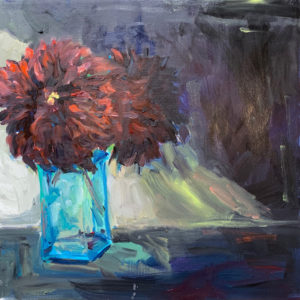 Black Dahlias, original oil painting by Bart Levy