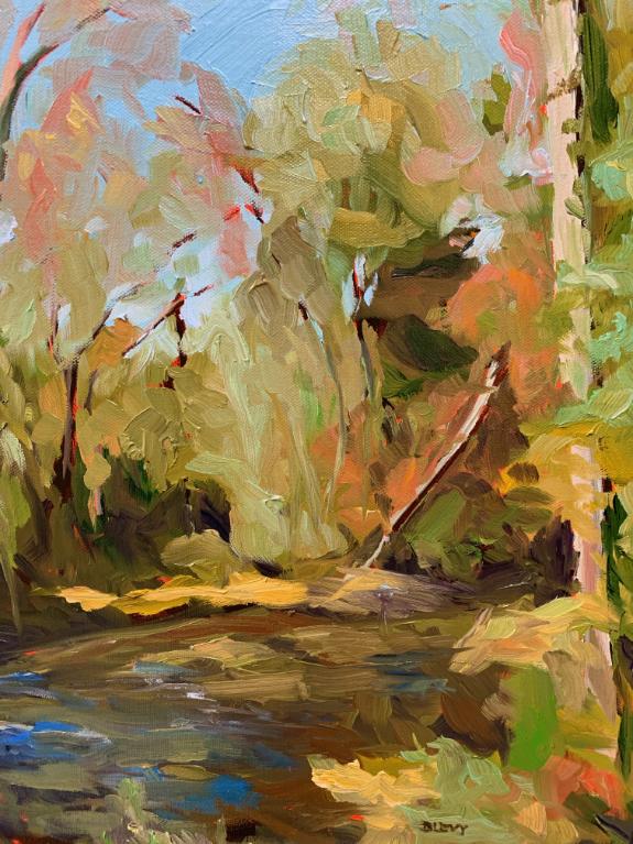 Williamsburg Creek, original oil painting by Bart Levy