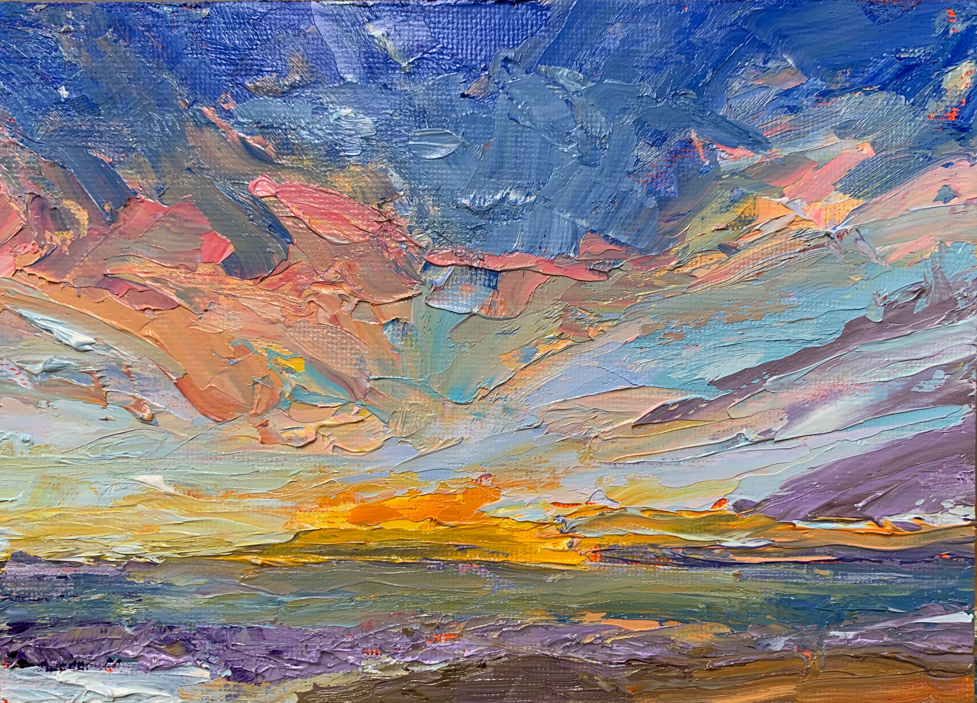 Fire in the Sky, original oil painting by Bart Levy