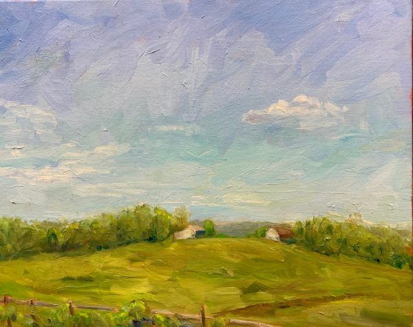 Distant View, original oil painting, bart levy