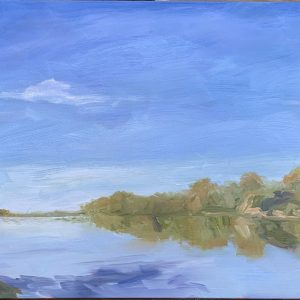 Bend in the River, original oil painting, bart levy