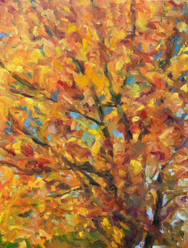 Look Up, original oil painting, bart levy