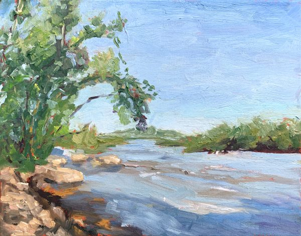 James River at Pony Pasture, original oil painting, bart levy
