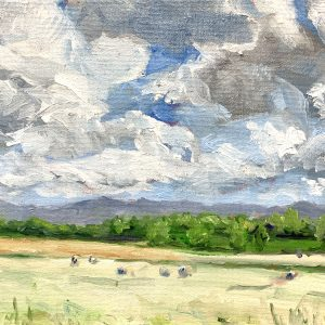 Luray Hayfield, original oil painting, bart levy