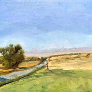 north from zion crossroads, an original oil painting by Bart Levy