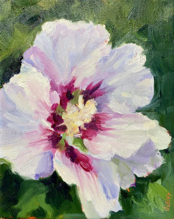 Rose of Sharon, original oil painting, bart levy
