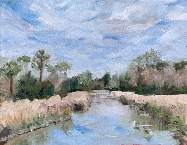 Winter Swamp, an original oil painting, bart levy
