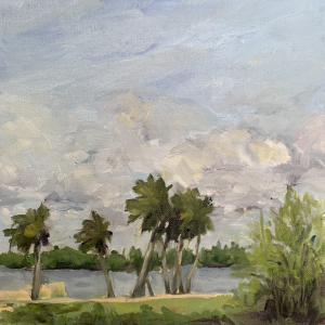 Breezy, original oil painting by Bart Levy