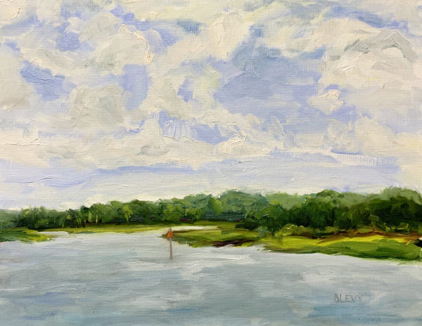 Channel Marker 32, original oil painting by Bart Levy